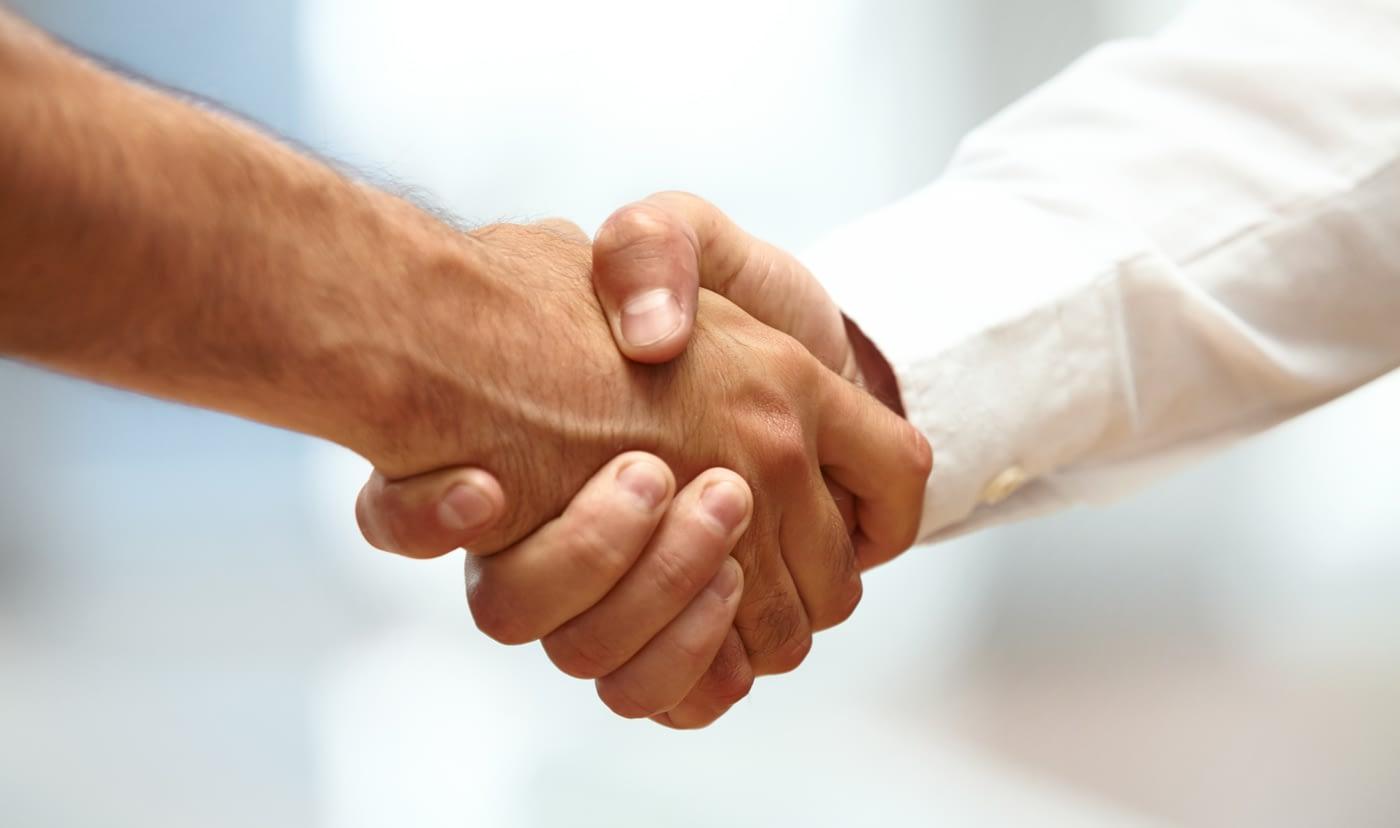 Hagelschutzkonsortium Handshake