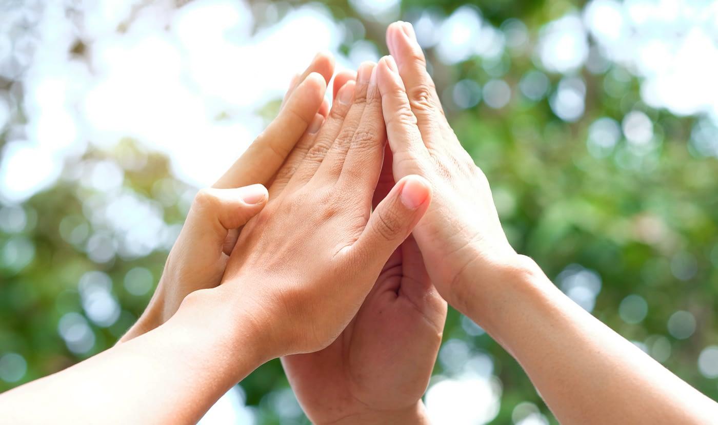 Hagelschutzkonsortium Hände